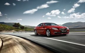 Picture auto, red, BMW, BMW, BMW M6, Beha, red car
