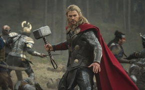 Picture armor, hammer, battle, comic, Thor, Chris Hemsworth, Chris Hemsworth, Thor 2: the dark Kingdom, Thor: ...