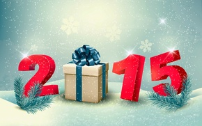Picture gift, New Year, New Year, Happy, 2015