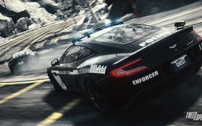 Picture Road, Turn, Skid, Need For Speed : Rivals, Cop, Aston Martin One-77