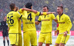 Picture Sport, Football, Borussia Dortmund, Borussia Dortmund, Marcel Schmelzer, Neven Subotic, Ball Play Association Borussia, Lukasz ...
