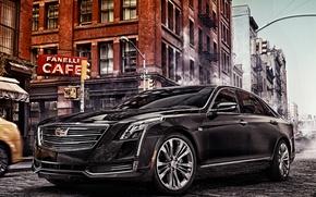 Picture the city, street, Cadillac, sedan, Cadillac, CT6