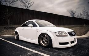 Picture white, Audi, Audi, white, stance