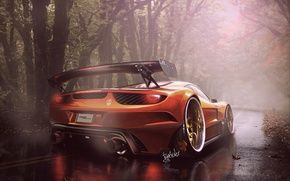 Picture Ferrari, Orange, 458, Italia, ART by Typerulez