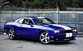 Picture blue, Dodge, Dodge, SRT8, Challenger, the front, Muscle car, 392, Muscle car, Chelenzher, Inaugural Edition