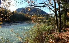 Picture autumn, river, foliage, Nature, river, nature, autumn, mountain, leaves