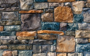 Picture wall, stone, colorful pattern