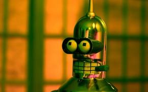 Picture futurama, Bender, metal