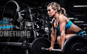 Picture model, workout, fitness, gym, quote