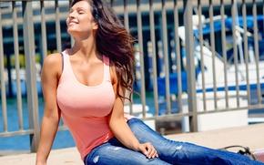 Picture the sun, model, beauty, denise milani