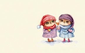 Picture mood, owl, art, sweets, children's, candy, girlfriend, sovushka, Inga Paltser, Inga, Pelzer