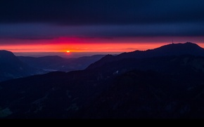Picture the sky, landscape, sunset, mountains, nature, Germany, Bavaria