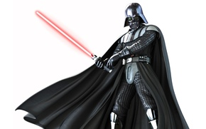 Picture Star Wars, white background, Star wars, Darth Vader, Darth Vader, laser sword