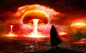 Picture the explosion, the city, Apocalypse, people, art, Romantically Apocalyptic, alexiuss, zee captain