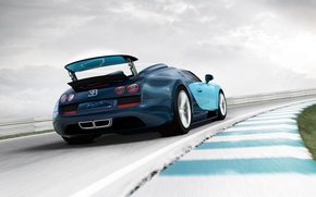 Picture speed, track, Roadster, car, Bugatti Veyron Grand Sport Vitesse
