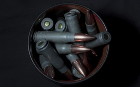 Picture macro, weapons, background, cartridges
