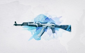 Wallpaper The volcano, weapons, assault, background, rifle, Weapons, Skin, Workshop, cs go, Weapon, Steam, Gun, AK-47, ...