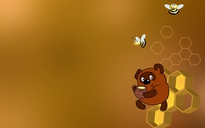 Picture cell, bees, Winnie The Pooh, honey