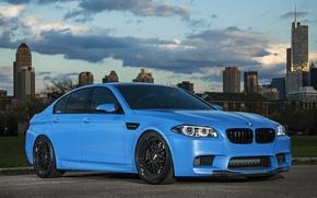 Picture black, blue, BMW, BMW, drives, f10, BBC, Yas Marina Blue