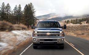 Picture Road, Chevrolet, Machine, Speed, Car, Pickup, Speed, SUV, Chevrolet, Silverado, 2500HD