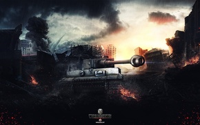 Picture World of Tanks, Wargaming Net, Tiger I, FuriousGFX