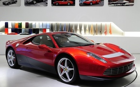 Picture red, background, Ferrari, photos, Ferrari, supercar, the front, spec.version, SP12