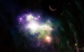 Picture space, darkness, the universe