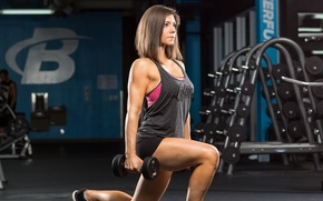 Picture woman, workout, fitness, hard work