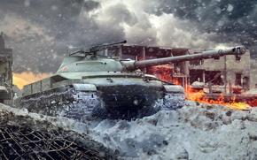 Wallpaper Object 907, riconoscere tank, the Soviet project of a medium tank