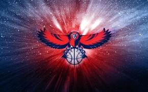 Picture The ball, Basketball, Background, Hawks, Atlanta Hawks, NBA. Logo