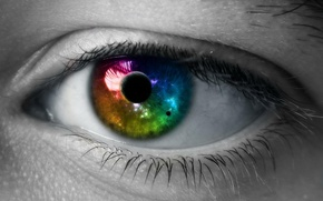 Picture color, Eyes, Space, The pupil