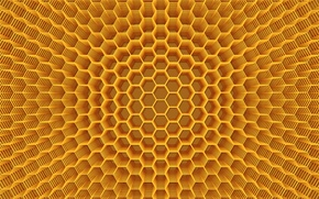Wallpaper background, Wallpaper, color, abstraction, the volume, Cell, figure, honey