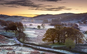 Picture England, morning, frost