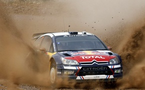 Picture Auto, the hood, Sport, Machine, Dirt, Citroen, Lights, Red Bull, WRC, Rally, Rally, The front