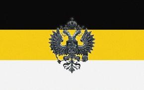 Picture eagle, flag, Russia, Empire, double-headed