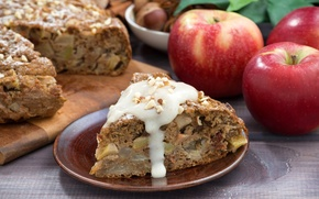 Picture apples, pie, nuts, cakes, Apple