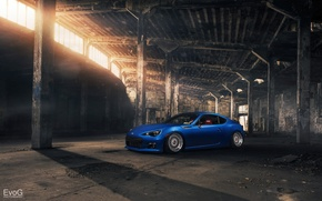 Picture Subaru, blue, BRZ, Evoked Photography