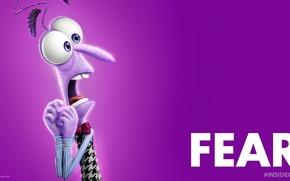 Picture character, Pixar, dress, movie, Walt Disney, film, adventure, emotions, 2015, Fear, Pixar Animation Studios, five …