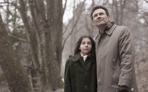 Picture snow, girl, actor, Maja Arsovic, Christian Slater