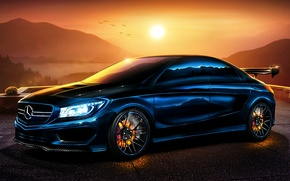Picture Mercedes-Benz, Mercedes, Carbon, Sun, Tuning, 2013, Brake, Benz, CLA