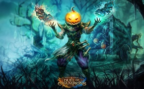 Picture card, pumpkin, Might & Magic: Duel of Champions