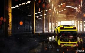 Picture Lamborghini, hangar, Superleggera, Gallardo, LP 570-4, notbland, Webb Bland