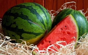 Picture seeds, watermelon, the flesh, summer, bark, slice
