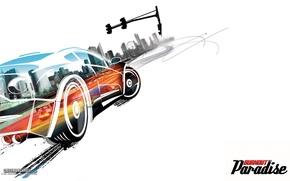 Wallpaper car, auto, Burnout, Paradise, figure