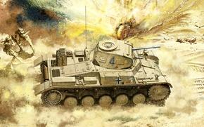 Picture figure, Africa, Tank, Pz.Kpfw. II Ausf. C, light tank