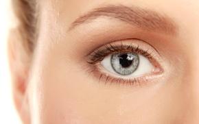 Wallpaper woman, eye, eyelash, pupil