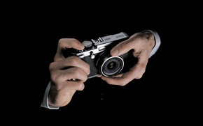 Picture hands, the camera, photographer, lens, male, the camera, Fujifilm, X100s