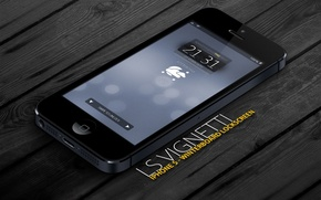 Picture time, style, black color, screen, iPhone 5