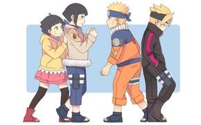 Picture anime, art, Naruto, Naruto, Hinata, Boruto, Himawari