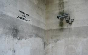 Wallpaper Camera, The inscription, Concrete